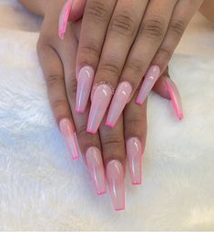Coffin nails design ideas are very diverse nowadays. Today, we re-selected Most Classy Coffin nails design ideas! Let's enjoy this amazing nail art! Summer Acrylic Nails, Best Acrylic Nails, Pink Acrylics, Summer Nails, Square Acrylic Nails, Spring Nails, Nail Swag, Cute Acrylic Nail Designs, Long Nail Designs
