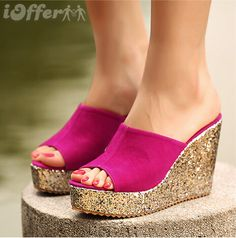 DIY Glitter Wedges -  - diy fashion projects