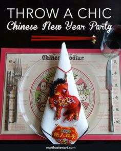 Throw a Chic Chinese New Year Party | Martha Stewart Living - The celebration of Chinese New Year, also known as the Lunar New Year, happens every year in late winter. Help your family mark the occasion with traditional Chinese New Year recipes like dumplings and noodles, which are meant to bring good luck. Set the scene with our Chinese New Year decorating ideas.