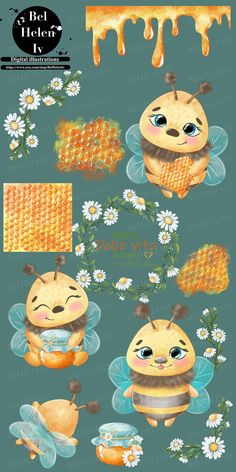 Cute Illustration, Watercolor Illustration, Digital Illustration, Whatsapp Wallpaper, Most Beautiful Animals, Cute Bee, Clip Art, Cute Clipart, Bee Art