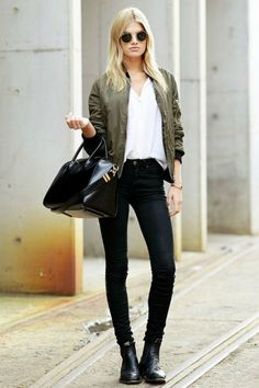 Image result for bomber jacket women outfit