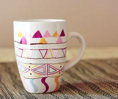 DIY: sharpie mugs