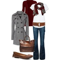 A fashion look from September 2012 featuring Jane Norman coats, 7 For All Mankind jeans and Qupid flats. Browse and shop related looks.