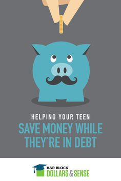 If your teen has fallen into debt after opening their first credit card, here are three helpful tips for how they can save and pay off what they owe at the same time.