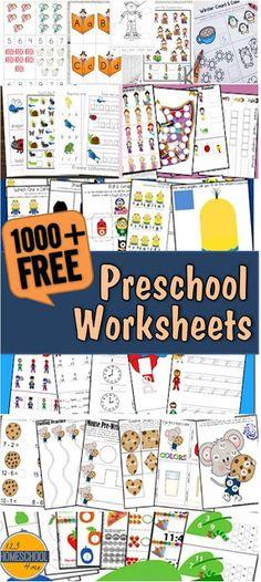3000+ FREE Pre K Worksheets
