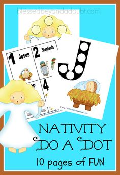 My little ones adore do-a-dots!   I need to make some for my 9-year-old because he still thinks they are FUN. What's in the Nativity FUN Do-A-Dot printable pack? Letters Do-A-Dot Numbers Do-A-Dot Picture Do-A-Dot There are 10 pages in this FREE Nativity Do-A-Dot printable pack, so your kiddo will be busy for a while. What to use instead of Dot Markers? markers bingo chips buttons candy The list could go on, but you get the idea. I have also bought bingo  {Read More}