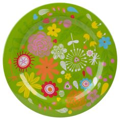 assiette flowers mélamine 25cm - Conserver & Trier - Nettoyage & Ménage - Action France
