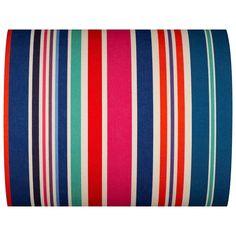 Tissu Rayé Multicolore - Cabanon - 43cm