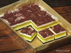 Mousse, Cake Recipes, Dessert Recipes, Dessert Ideas, Sweets Cake, Polish Recipes, Banana Cream, Food Cakes, No Bake Desserts