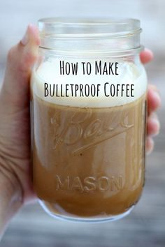 to make Bulletproof Coffee Bulletproof coffee gives you an amazing energy boost that will keep your mind focused and clear!Bulletproof coffee gives you an amazing energy boost that will keep your mind focused and clear! Paleo Recipes, Low Carb Recipes, Cooking Recipes, Milk Shakes, Yummy Drinks, Healthy Drinks, Café Chocolate, Keto Drink, Coffee Love