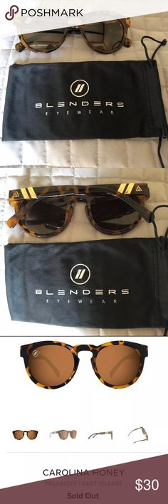 Blenders Sunglasses Polarized Chic brand new Blenders brand tortoise shell sunglasses. Blenders is out of CA and they make a quality/stylish product. I own many of these myself, however this shape was not flattering on my face.The glasses are polarized and are sold out on the site. I ordered them at Christmas but they have never been worn, therefore no flaws/scratches. Blenders Accessories Sunglasses