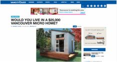 Picture- Nomad Micro House 10 by 10 with bath, kitchen, and loft for under 30 grand