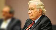 Noam Chomsky at a SISSA event on September 17, 2012. In a democracy, the public influences policy but the US state largely works to benefit the privileged and powerful.