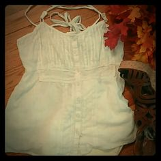 BOGO FREE SALEcute white knit lace trim cami Super cute white knit, lace trim button down top Hang Ten Tops Camisoles