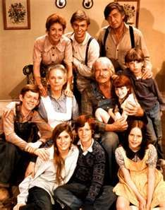 The Waltons family from an early series
