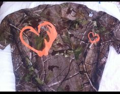 realtree camo t-shirts with orange logo on front and back I want this!!