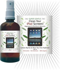 iPad Screen Cleaner -no chemical ingredients. Degreases and disinfects.
