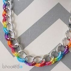 B.Hooked Crochet: Curb Chain Necklace - freecr crochet pattern plus LEFT & RIGHT Handed videos.