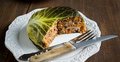 Layers of cabbage alternate with a delicious filling of barley and lentils in this vegan version of the classic French dish.