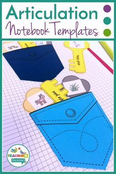 Articulation notebook templates can be fully customized to suit the goals of the students on your caseload. Learn with interactive speech therapy activities Articulation Activities, Teaching Phonics, Language Activities, Preschool Speech Therapy, Speech Language Pathology, Speech And Language, Interactive Notebooks, Printable Worksheets, Printables