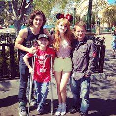 """Look who Bella Thorne is with at Disneyland Resort today (March """"Kickin' It"""" stars, Leo Howard and Jason Earles, snapped a photo with Miss Kickin It Cast, Jason Earles, Leo Howard, Tv Show Casting, Olivia Holt, Attractive Guys, Bella Thorne, Disneyland Resort, Playing Guitar"""