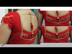 Kerala Saree Blouse Designs, Saree Blouse Neck Designs, Fancy Blouse Designs, Dress Neck Designs, Blouse Neck Patterns, Blouse Tutorial, Gold Mangalsutra Designs, African Fashion Dresses, Hand Designs