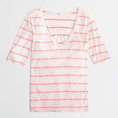 J.Crew Factory draped stripe tee #womens #tshirt #tee #striped #love #cotton