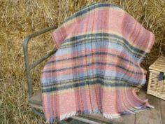 Vintage Welsh Wool Picnic Blanket