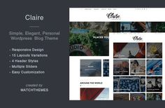 Claire - Elegant Personal Blog Theme - WordPress Blog Theme @creativework247