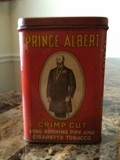 Prince Albert in a can. Remember doing this??? Dale taught us to carry our worms in one of these when we were fishing.