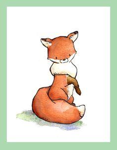 Children Art Print. LOXLY. Print 8X10. Nursery Art by LoxlyHollow