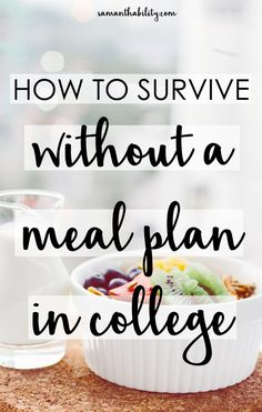 * How to survive without a meal plan in college! Cooking for yourself in college and shopping for groceries can be hard to get used to! Survive with these tips and hacks! Healthy College Meals, College Food Hacks, College Cooking, Cooking On A Budget, College Recipes, College Food Budget, Cheap College Meals, Easy Recipes For College Students, Budget Recipes