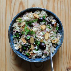 Quinoa Salad With Cherries and Feta -Would use dried cranberries instead