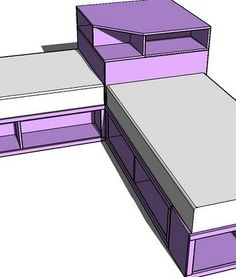 Ana White | Build a Corner Hutch Plans for the Twin Storage Beds | Free and Easy DIY Project and Furniture Plans