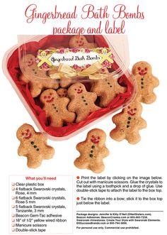 Gingerbread Bath Bombs