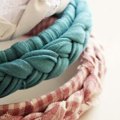 No-sew braided headband - this would be great a great project for a girls spend the night party