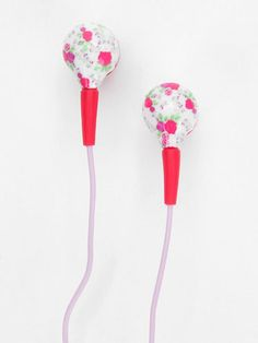In a sea of white headphones, these pretty floral ones won't get mixed up