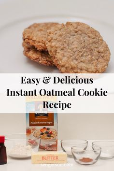 This is a delicious instant oatmeal cookies breakfast recipe that only has 7 ingredients. Your family is sure to love it! Instant Oatmeal Cookies, Instant Oatmeal Recipes, Quaker Instant Oatmeal, Oatmeal Breakfast Cookies, Oatmeal Cookie Recipes, Quaker Oatmeal Cookie Recipe, Healthy Foods To Make, Good Healthy Recipes, Healthy Eating