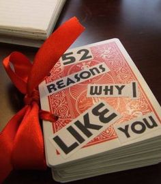 52 reasons why I like you. I have a super cool layout idea for this.