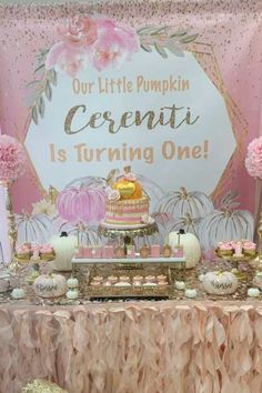 Our little pumpkin is turning one Birthday Party Ideas Boys 1st Birthday Party Ideas, Birthday Activities, Birthday Gifts For Girls, Girl First Birthday, First Birthday Parties, Birthday Party Decorations, Pumpkin 1st Birthdays, Pumpkin Birthday Parties, Pumpkin First Birthday