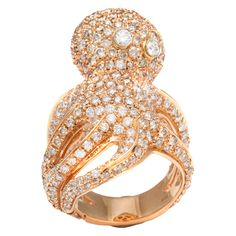 Diamond Octopus Ring