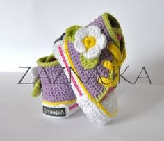 Crochet baby - sneakers -flower - crochet shoes on Etsy, £33.91