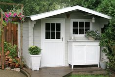Planning To Build A Shed? Now You Can Build ANY Shed In A Weekend Even If You've Zero Woodworking Experience! Start building amazing sheds the easier way with a collection of shed plans! Outdoor Storage Sheds, Outdoor Sheds, Shed Building Plans, Shed Plans, Garden Cottage, Home And Garden, Garden Log Cabins, Painted Shed, Shed Cabin
