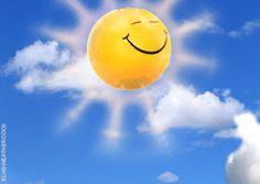 Smiley faced sun on the way to start the day Good Morning Gif, Morning Images, Gif Animé, Animated Gif, Animated Emojis, Sun Song, Funny Emoticons, Smiley Emoji, Kiss Emoji