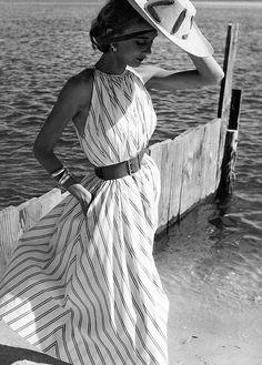 Helen Beatty in summer Halter Dress, 1951