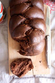 Brioche extra moelleuse au cacao et à l'huile d'olive (vegan)