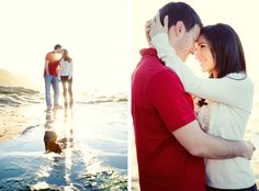 Adorable beach engagement.  Photo by Joshua Aull Photography. www.wedsociety.com  #wedding #engagement