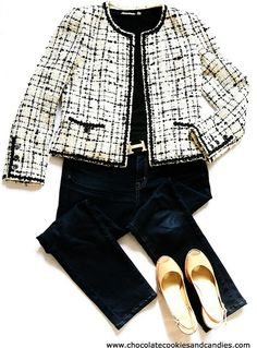 bd01e1e3c90 Casual Outfit  Chanel tweed boucle jacket