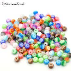 DoreenBeads 2016 Hot Fashion Jewelry Resin Round Loose Beads Mixed At Random Stripe for Jewelry Making 6mm Dia Hole:1.5mm 25 Pcs-in Beads from Jewelry & Accessories on Aliexpress.com   Alibaba Group