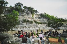 wedding in a river - photography by Ariel Renae